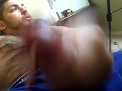 Sexy Hairy Latino Big Juicy Cock Stroked