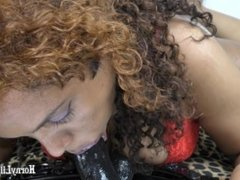 Drooling Spitting Deepthroat BBC dildo