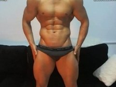 hunk in slip and showing big dick