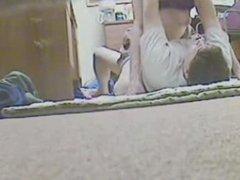 Cute milf rides some cock on hidden cam