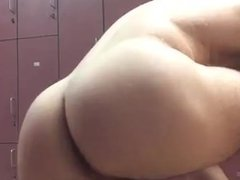 Showing off naked in the locker room 2