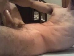 Horny dude jerking on cam