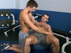 Gym partners having fun