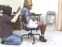 Amber Michaels captured by thugs, chairtied TIGHT & BALL GAGGED!!!!!!!!!!
