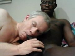 White Guy Giving Black Guy Great Head!