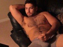 Sexy Handsome Latino Masturbating To Porn 6