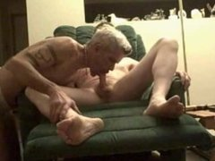 Older man gets his feet worked over
