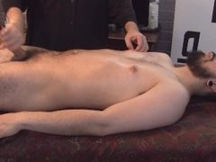 Bisexual Adrian involuntary responds to prostate stimulation