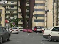 Giantess High Heel City Crush