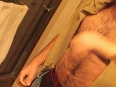 Don Stone In Sexy Hot Outfit Hairy Chest In Jeans Masturbating To Porn 5