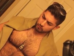 Don Stone In Sexy Hot Outfit Hairy Chest In Jeans Masturbating To Porn 10