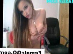 Dildo Girl Webcam Secretary Masturbating Masturbation Nude CamGirl