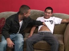 Latino stud turns his twink buddy for the first time
