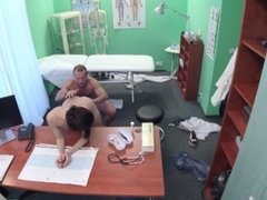 Russian babe gets a special examination from her doctor