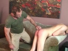 Twink student gets a spanking from his stepdad for not studying