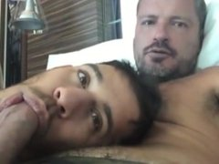 Latino playing with Daddy's DICK / GAY