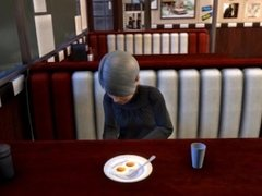 Metal Gear: Sunny Footjob Under Table