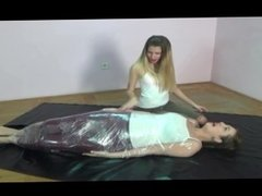 Girl Tied Up ¨MUMMIFIED¨ And Smother By Girl*