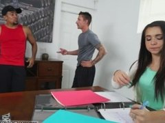 Stepmom and friends daughter hd and dad can't resist friends daughter and
