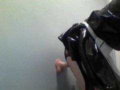 sissy maid riding dildo