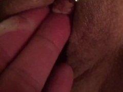 Fingering juicy pussy