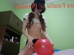 Horny amateur teen humping balloon - Laura Fatalle