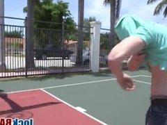 Playing basketball makes sexy gay jocks very horny