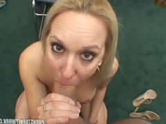 Casting video of ERIN MOORE: POV Suck and Swallow