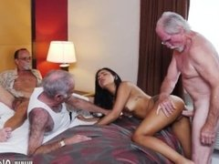Fat grandma fucks first time Staycation with a Latin Hottie