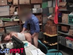 Teen shoplifter Brooke Bliss needs to fuck her way out of punishment