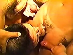Blowjob 4 BigDicks Bareback and Cum in mouth [no mask Japanese] HUSKY