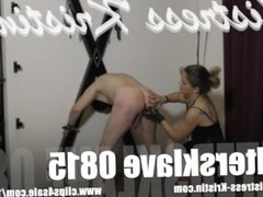 Mistress Kristin - Slave 0815 CBT Ball Busting Fucking Machine FemDom Whip