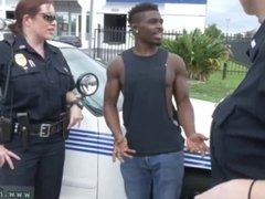 Black cop forces teen and amateur milf handjob compilation and white