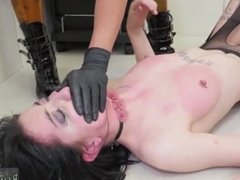 Big woman dominates lesbian and viberator bondage and lesbian bondage