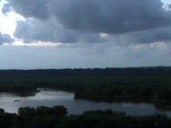 Naked anal masturbation on the Mississippi River