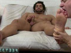 Gay foot feet fetish emo footballers and gay male foot rubbing hard dick