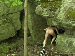 Nude cliff climbing and caving by Mark Heffron