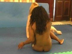 black vs white nude wrestling