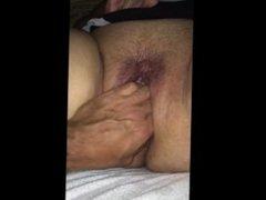 Squirting BBW Masturbating with Help