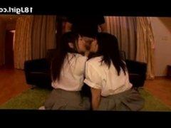 Two Japanese girl suck dick!