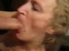 Deepthroat Mom Silvia rewarded with facial