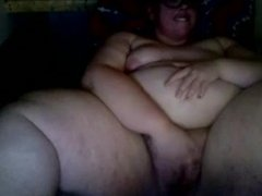 SSBBW Masturbating and Cumming. Strong Orgasm. Anybody Know her Name?