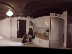 VR Porn Shemale Sex: Eaten in the kitchen  Virtual Porn 360