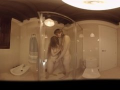 VR Porn Shemale Sex: Blow it in the shower  Virtual Porn 360