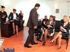 Business meeting with associates and profit bonus - career