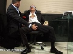 Office bondage in Suit and Tie