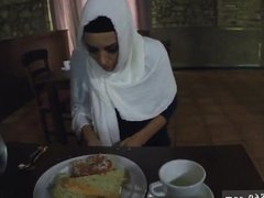 Arab black first time Hungry Woman Gets Food and Fuck