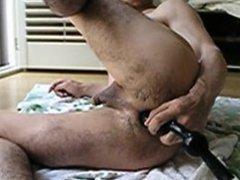Anal Riding the Huge Dildo hard 7