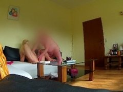 Ugly german 10 $ slut Sandra with psoriasis and saggy tits - SPY CAM -