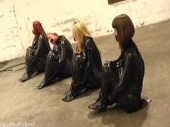 4 girls trash bagged